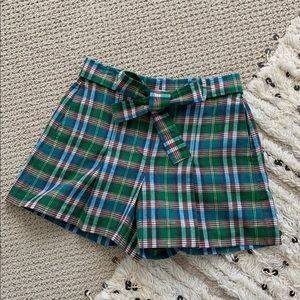 J.Crew high rise tie front shorts